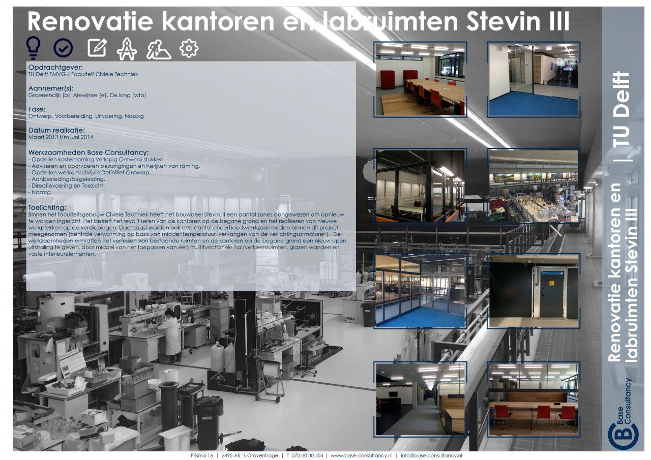 Renovatie Stevin III TU Delft
