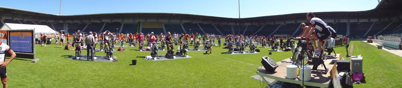Spinning marathon stadion ADO Den Haag