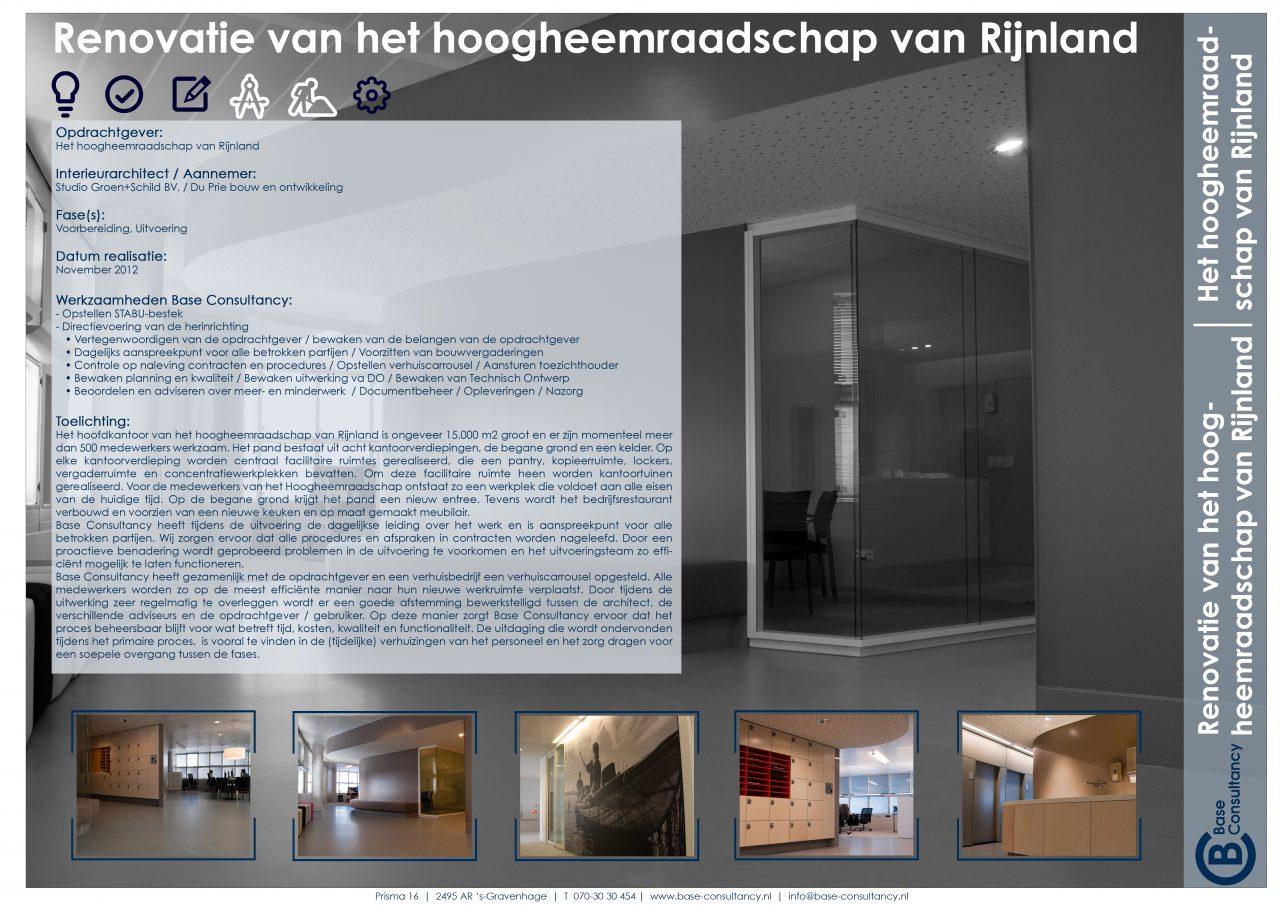Renovatie Hoogheemraadschap van Rijnland