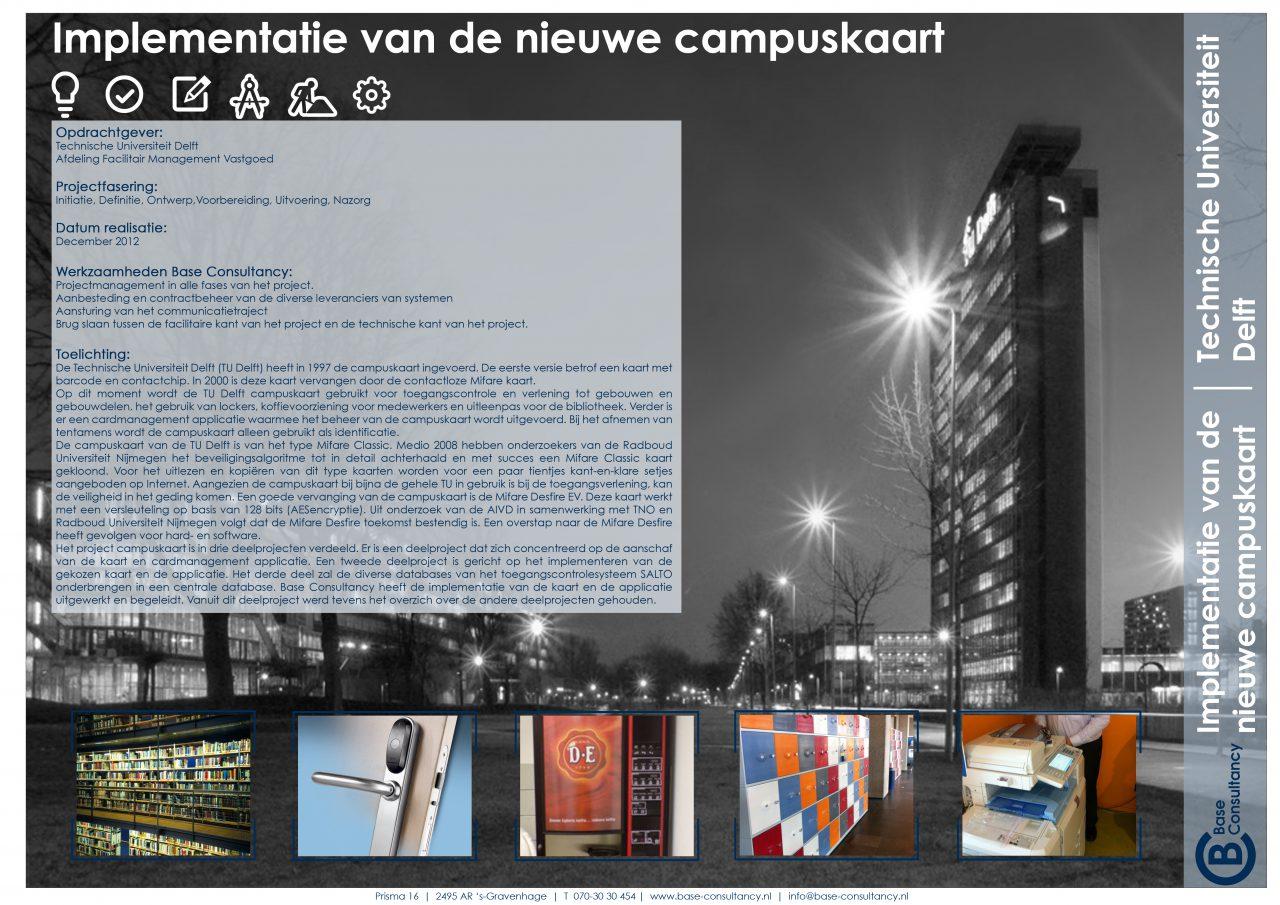 Implementatie van de nieuwe campuskaart TU Delft