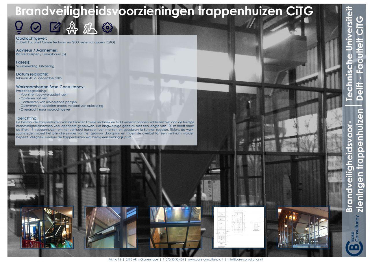 Brandveiligheidsvoorzieningen trappenhuizen TU Delft
