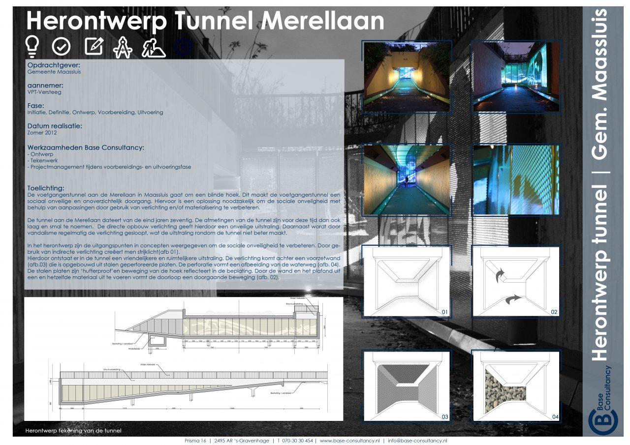 Herontwerp tunnel Merellaan Gemeente Maassluis
