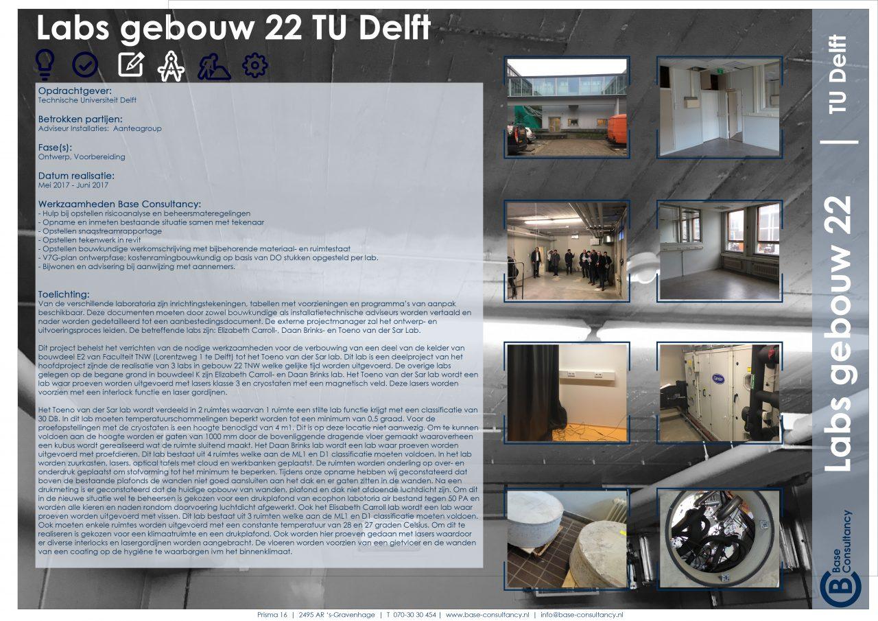 Labs gebouw 22 TU Delft